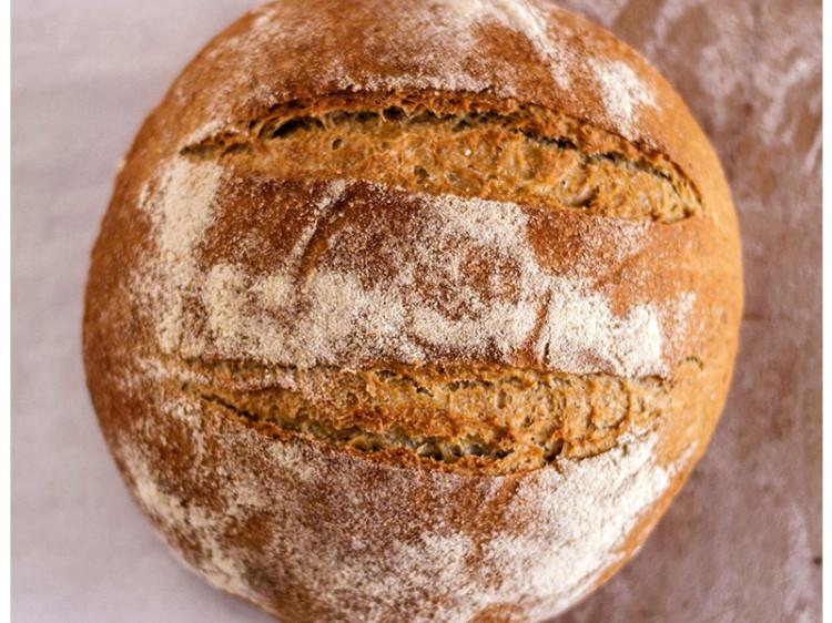 Hogaza de pan de trigo sureño.