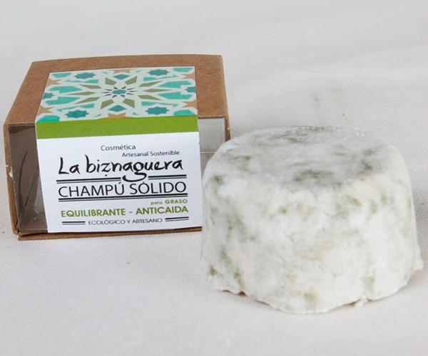 Champú sólido equilibrante / La biznaguera Cosmética natural