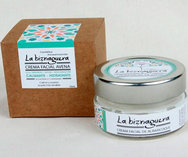 Crema facial de albaricoque / La biznaguera Cosmética natural