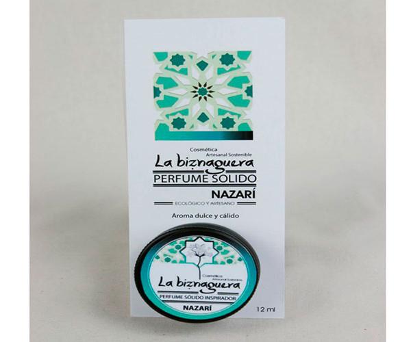 Perfume sólido nazarí / La biznaguera Cosmética natural