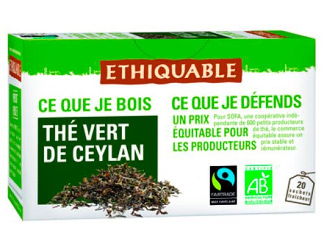 Té verde ecológico de Ceilán